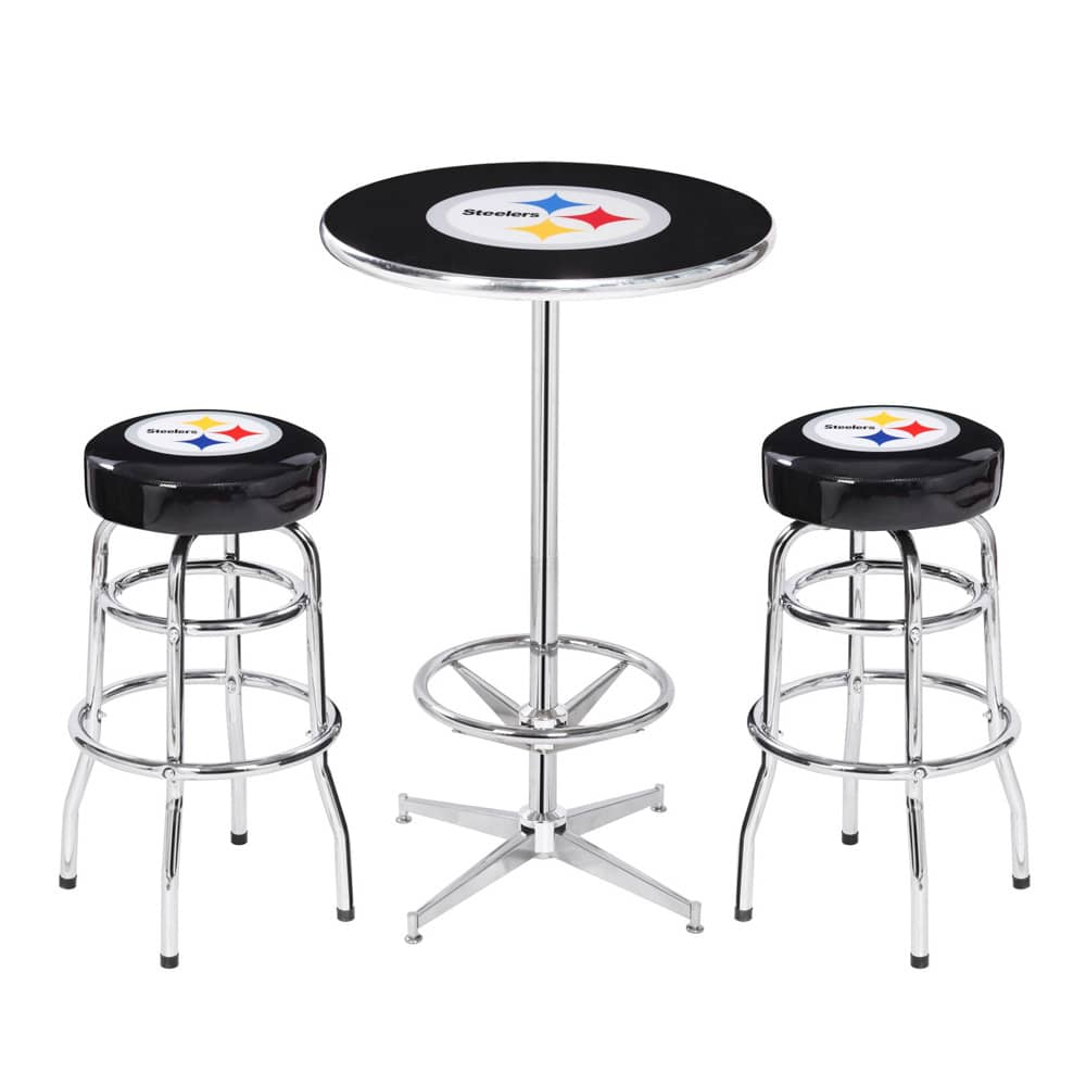 Nfl pub table set leons billiards pittsburghwexford home furniture pub tables watchthetrailerfo