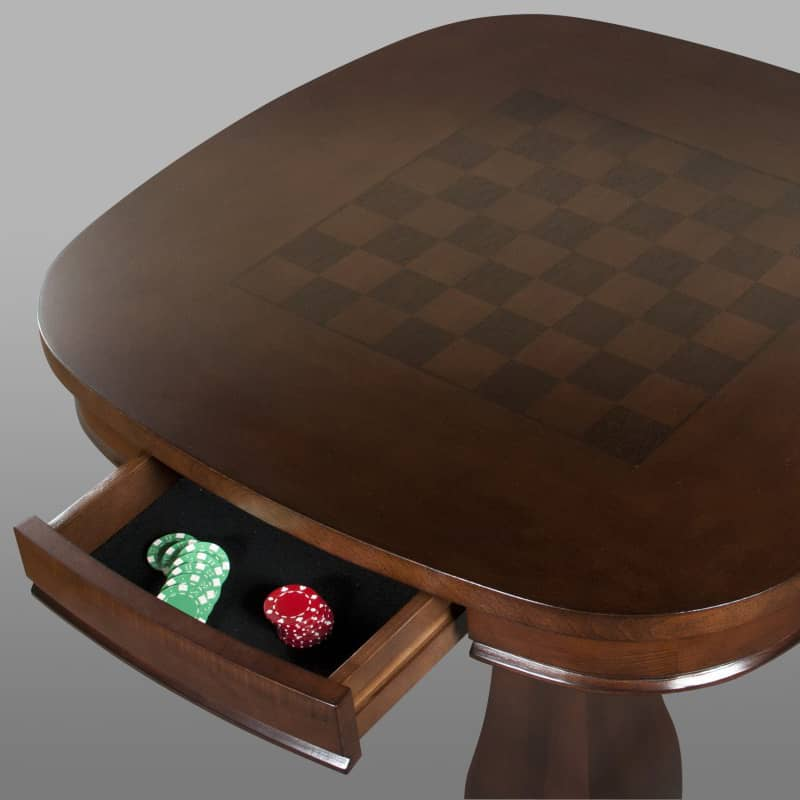 Signature Pub Table With Chess Inlay Leon S Billiards